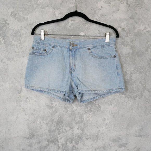 Levi's Light Blue Cotton Jean Shorts Size JR 7